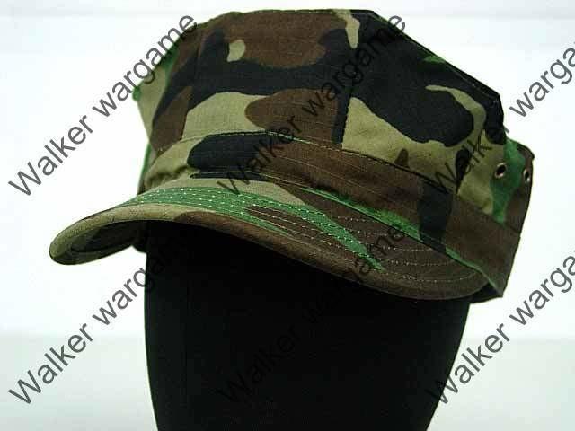 US Army & Navy Seal Woodland Camo - GARRISON Style Patrol Cap