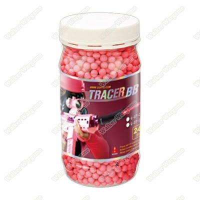 G&G Airsoft Tracer BB 0.25g 2400 Shots Red (Glow In The Dark)