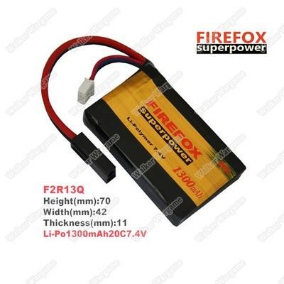 Firefox 7.4v Box Battery 1300mAh PEQ-15 type Li-Polymer Battery.