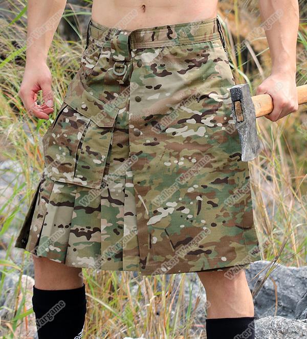 Tactical Man Scotland Skirt Multicam Camouflage Army skirt waist 68-108cm