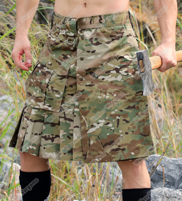 Tactical Man Scotland Skirt Multicam Camouflage Army skirt waist 68-108cm