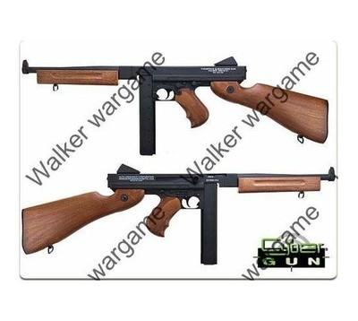 CYMA Thompson M1A1 Full Metal WW2 Airsoft Submachine Gun - AEG