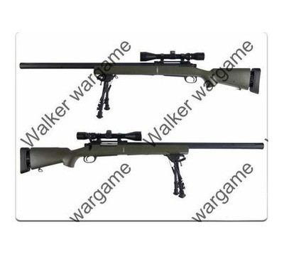 SNOW WOLF M24 (Renmington 700) Military Heavy Barrel With Scope & Bipod - 450Fps