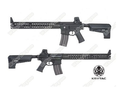 Krytac War Sport Licensed LVOA-C M4 Carbine Airsoft AEG Rifle - Black