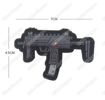 PWG010 PVC Rubber H&K MP7 PDW Patch With Velcro - Full Colour