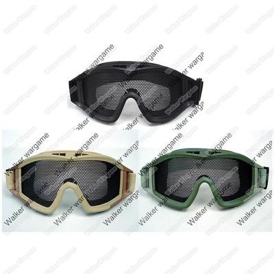 Airsoft No Fog Metal Mesh US Amry Style Goggle - Black, Tan, OD