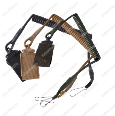 Tactical Pistol Hand Gun Spring Lanyard Sling  (Multi-Color)