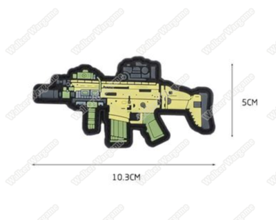 PWG08 PVC Rubber FN SCAR Patch With Velcro - Full Colour
