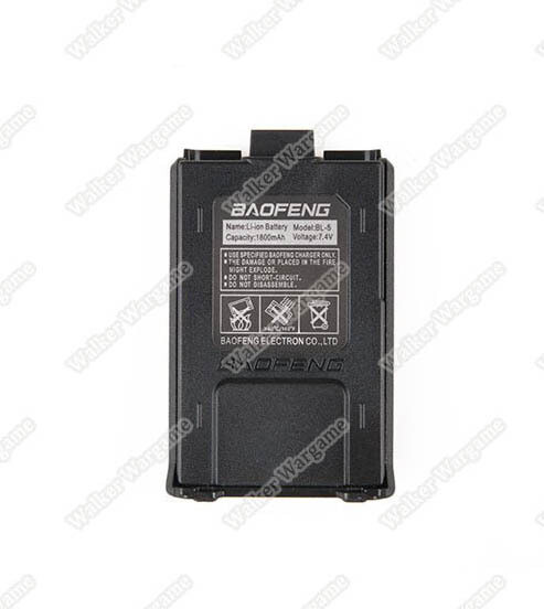 Baofeng Radio UV5R Extra Battery 1800mAh Li-ION