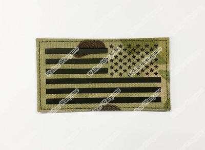 LWG004 US Flag MC Multicam Right Arm - Laser Cut Patch With Velcro