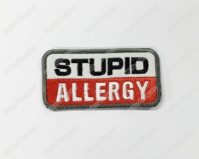 WG122 Stupid Allergy Chapter Morale Patch With Velcro - Full Colour