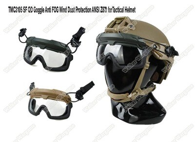 FMA SF Tactical Helmet QD Goggle Anti FOG Wind Dust Protection ANSI Z87.1