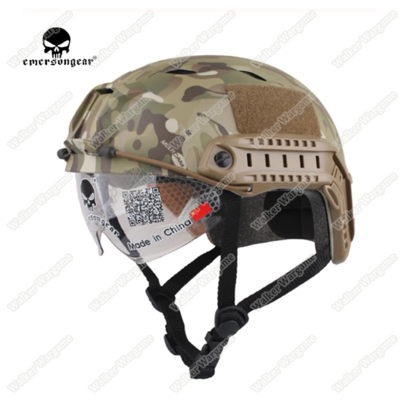 Basis Fast Jump Helmet Build in Goggle With NVG Mount & Side Rail