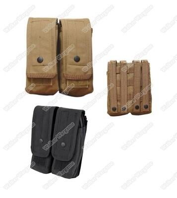 Tactical Double AK 7.62 Molle Magazine Pouch Black & Tan