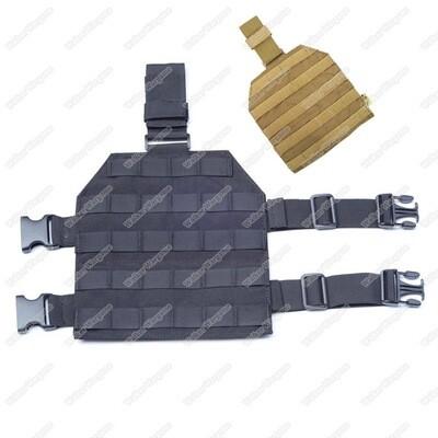 Flyye Drop Leg MOLLE Panel - Black & Tan