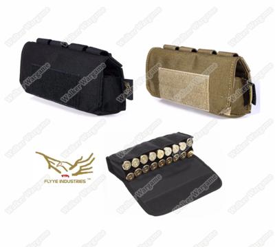 Flyye MOLLE Shotgun Shells Pouch -  Black & Tan