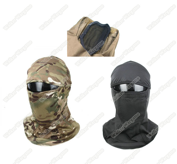 TMC Assault Balaclava Build in Metal Mesh Protect - Mesh Balaclava Face Mask