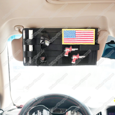 Tactical Car Truck Sun Visor Organizer Vehicle Visor Panel MOLLE Pouch
