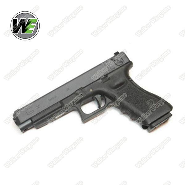 WE Tech Glock35 Geen Gas Blow Back Pistol - Black Semi Auto/Full Auto
