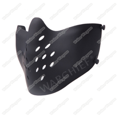 Warchief Lightweight M07 Tactical Half Face Combat Airsoft Mask - SWAT Black