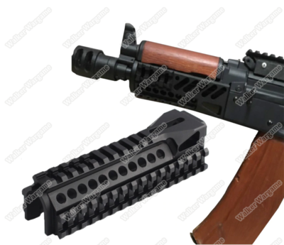 AK74 B-11 Lower Picatinny Handguard for Airsoft AK - Black
