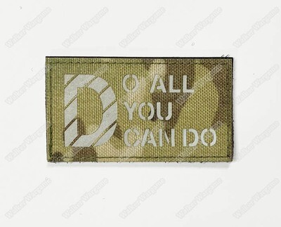 LWG032 Do All You Can Do - Laser Cut Patch With Velcro