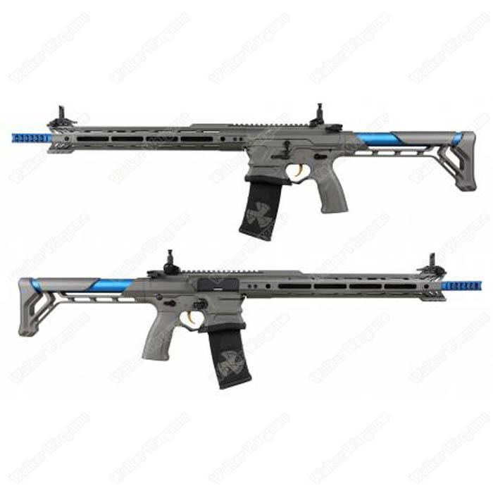 ETA July 2020 - G&G BAMF Team Cobalt Kinetics M4 Advanced ETU Airsoft Rifle Grey / Blue
