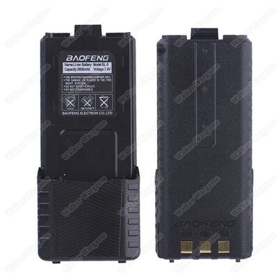 Baofeng UV5R Two-Way Radio 7.4v 3800mAh Long External Battery