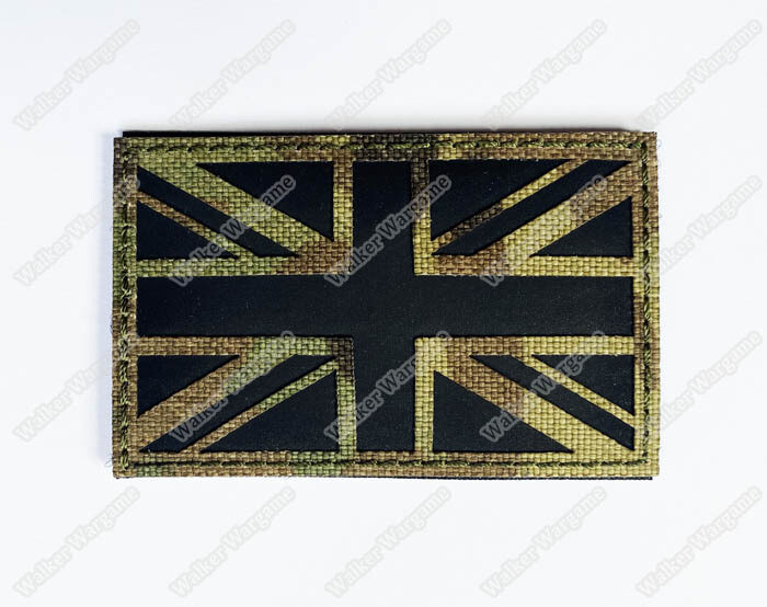 LWG031 UK Flag Union Jack Multicam - Laser Cut Patch With Velcro