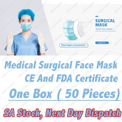 JINGEAO Disposable Medical Face Mask 3 Ply- 50Unit R9.00 each