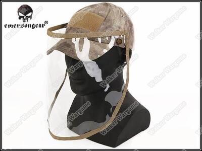 ETA - June 2020 Emerson Baseball Cap With Face Shield - Speical Force AT Camo