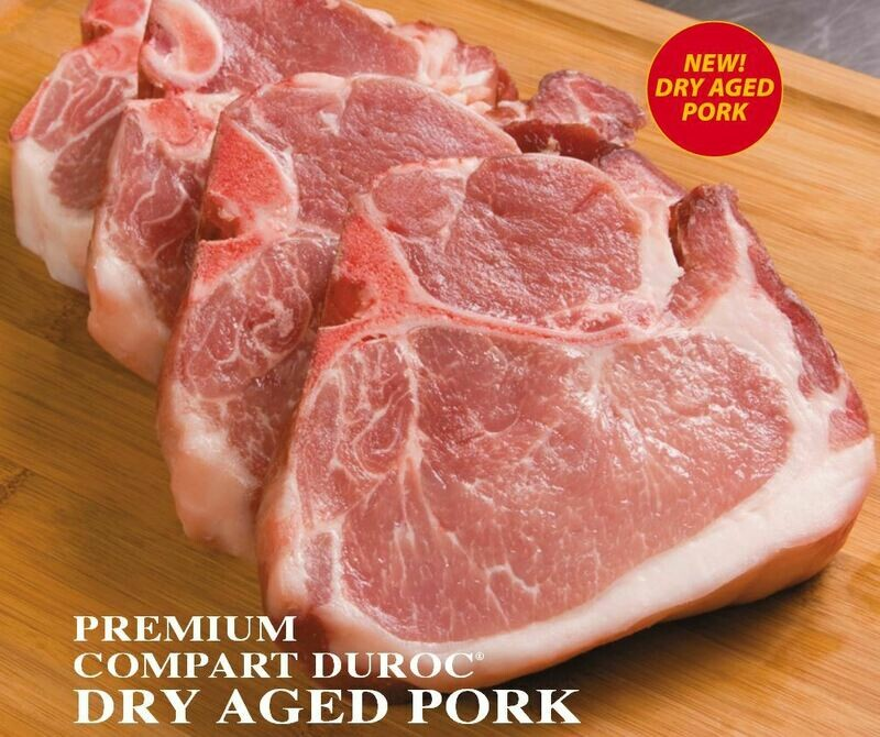 13oz Duroc Dry Aged Ribeye Pork Chop