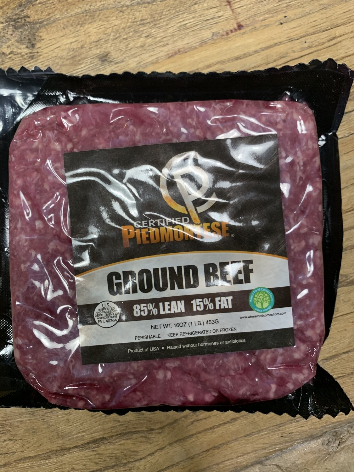 85/15 Piedmontese Ground Beef 1lb