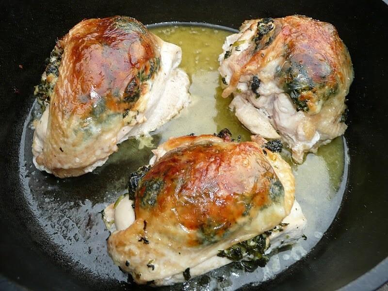 8oz Stuffed Chicken Rockefeller