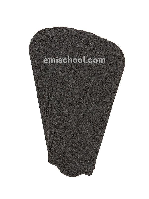 Professionaalsed mustad pediküüriraspli kleebised, 180G, 10 tk