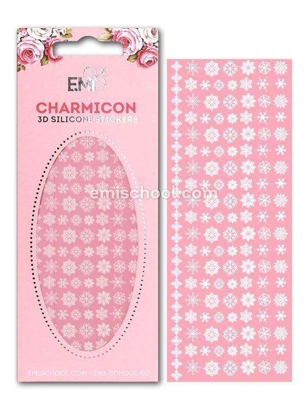 Charmicon 3D Silicone Snowflakes #2 Black/White