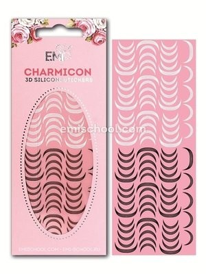 Charmicon 3D Silicone Stickers Lunula #12 Black/White