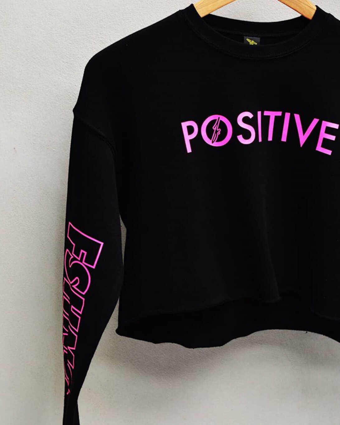 FSHNS - Womens Positive Long Sleeve Crop Top