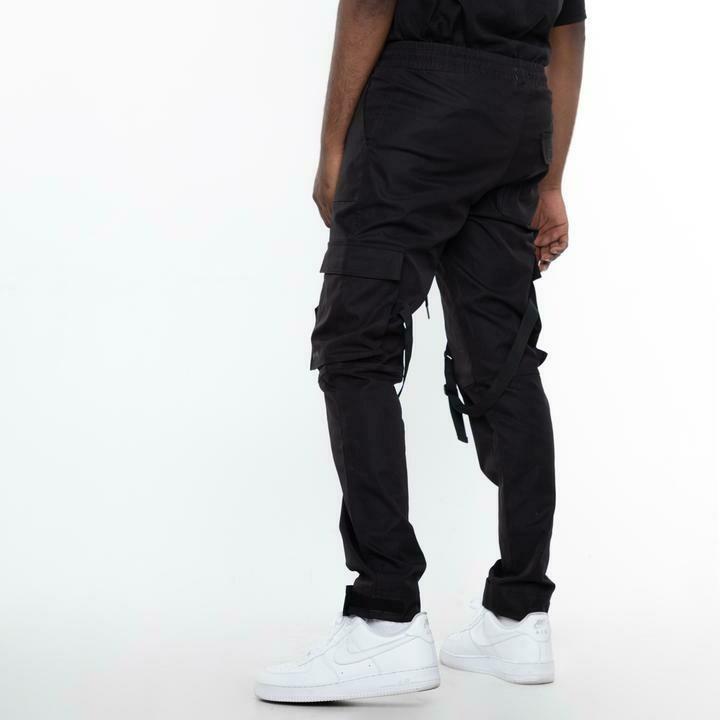 EPTM BLACK-STRAP CARGO PANTS