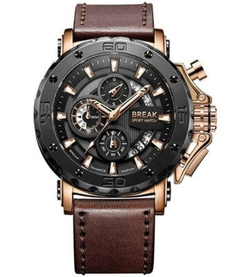 Break Luxury Watch Leather Band Mix Classic