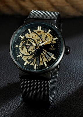 Skrox Watch Steel Gears Style Edition