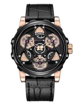 Ruimas Leather Watch Gears Design
