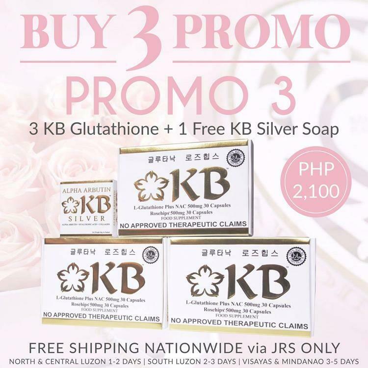 BUY 3 Promo #3 - 3 KB Glutathione with FREE KB Silver Soap