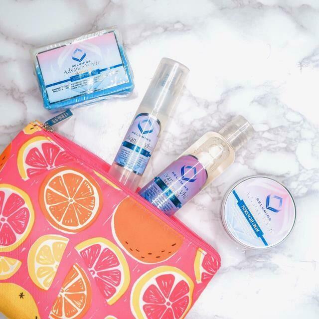 Relumins Advance White Facial Set - TA Stem Cell Premium Day Cream, Intensive Repair Toner, Intensive Repair Serum & Soap