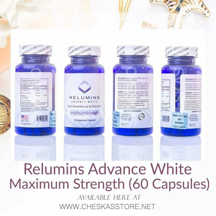 Relumins Advance White Oral Glutathione 800mg with Placenta