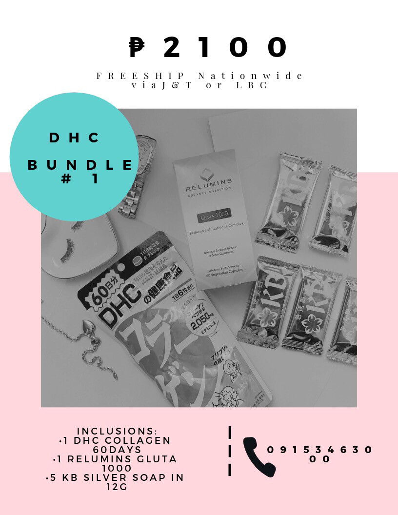 DHC Bundle # 1 (Dhc Collagen, Relumins, KB Silver Soap)