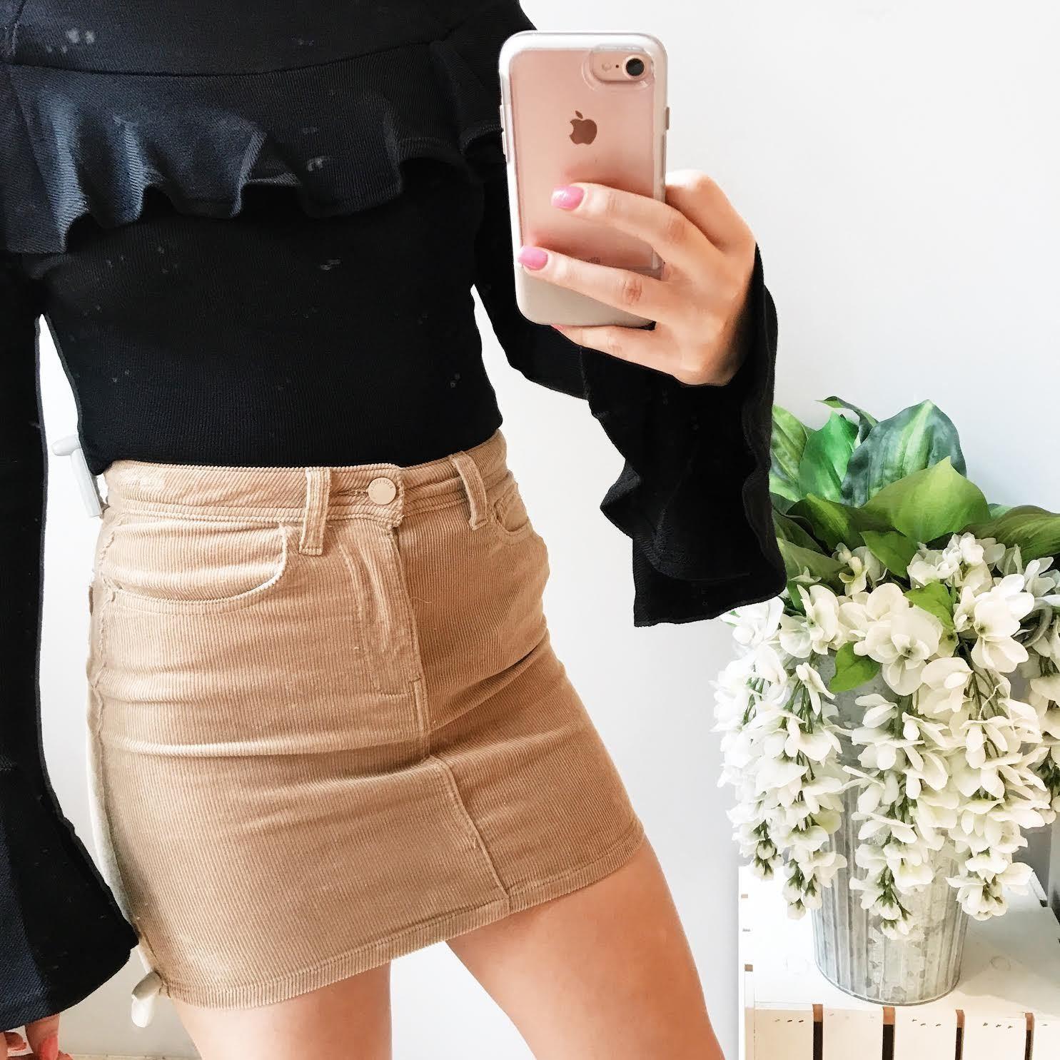 Minnie Classic Corduroy Mini Skirt