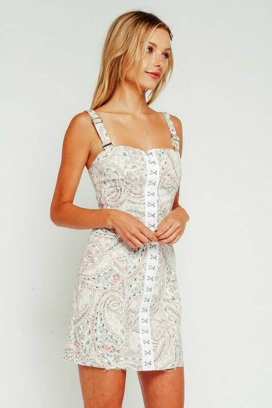 Paisley Hook & Eye Dress