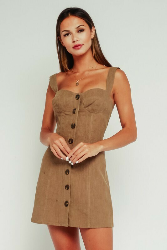 Button Up Sweetheart Dress