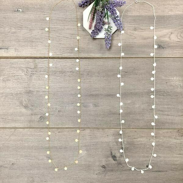 Long Mini Disc Necklace